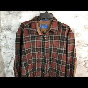 Pendleton Long Sleeve 100% Wool shirt Large USA